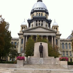 Photo taken at Illinois State Capitol by Abhishek R. on 10/1/2012