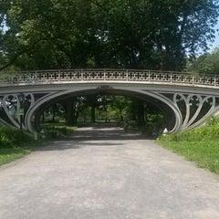 Photo taken at Central Park - Gothic Bridge by Jim T. on 7/20/2014