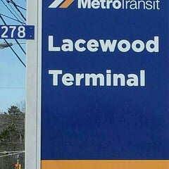 Photo taken at Lacewood Terminal by Tracy O. on 8/30/2014
