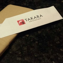 Photo taken at Takara Sushi & Asian Bistro by excitable h. on 12/28/2013