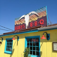 Photo taken at Ruby's BBQ by angularism on 3/14/2013
