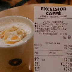Photo taken at EXCELSIOR CAFFE 心斎橋店 by つじやん 全. on 3/9/2014