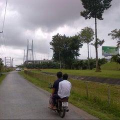 Photo taken at Cầu Mỹ Thuận by Bình T. on 8/31/2014