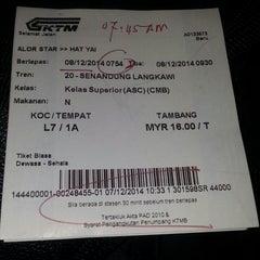 Photo taken at Stesen KTM Alor Star by Christine W. on 12/7/2014