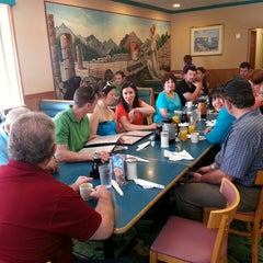 Photo taken at Olympic Flame Pancake House by Greg V. on 4/27/2014