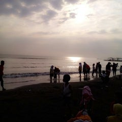 Photo taken at Pantai Alam Indah (PAI) Tegal by Aisyah A. on 7/20/2014