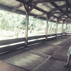 """Photo taken at Rumah Makan """"MANG AJO""""(Resto & Pemancingan) by Yuli S. on 5/15/2014"""