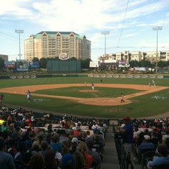 Photo taken at Dr Pepper Ballpark by Bryce B. on 6/29/2013