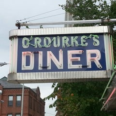 Photo taken at O'Rourke's Diner by Peter W. on 9/26/2012