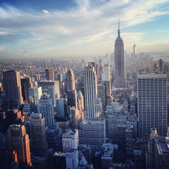 Photo taken at Top of The Rock Observation Deck by Arman S. on 5/8/2013