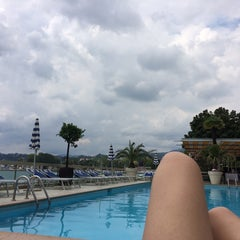 Photo taken at Hotel Lido Seegarten Lugano by NONO J. on 7/6/2014