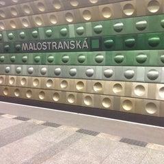 Photo taken at Metro =A= Malostranská by S.a.m. Pavel D. on 8/16/2012