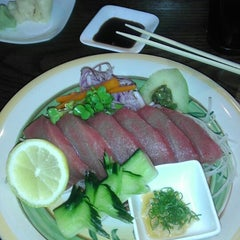 Photo taken at Sushiya by andrew f. on 5/17/2013