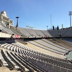 Photo taken at Estadi Olímpic Lluís Companys by Hay S. on 4/3/2013