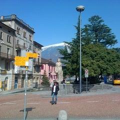 Photo taken at Stazione di Bellinzona by Gabor S. on 3/14/2014