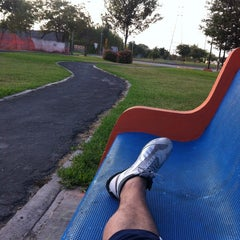 Photo taken at Parque Lineal Las Torres by Fernando K. on 5/25/2014