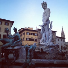 Photo taken at Piazza della Signoria by Angie T. on 10/22/2012