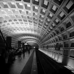 Photo taken at Foggy Bottom-GWU Metro Station by Olly N. on 8/1/2013