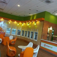Photo taken at Orange Leaf by Diana W. on 5/19/2012