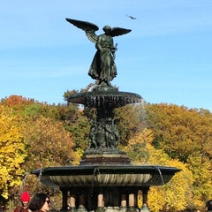 Photo taken at Bethesda Fountain by Gaby S. on 11/4/2013