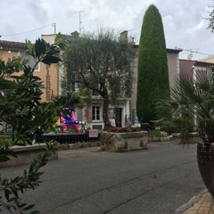Photo taken at La Place de Mougins by Tim B. on 8/1/2015