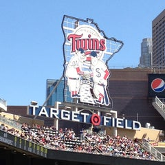 Photo taken at Target Field by Miriam D. on 4/27/2013