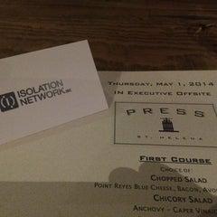 Photo taken at Press Restaurant by Alex B. on 5/2/2014