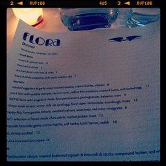 Photo taken at Flora Restaurant & Bar by Kouros M. on 10/25/2012