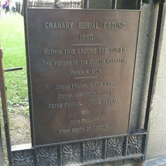 Photo taken at Granary Burying Ground by Chris W. on 8/4/2013