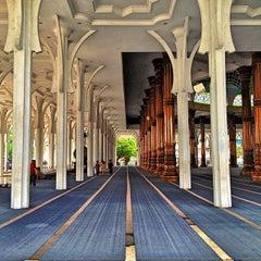 Photo taken at Masjid Agung Al-Falah by Fauzan A. on 10/7/2013