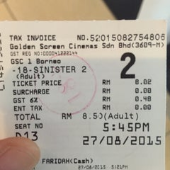 Photo taken at Golden Screen Cinemas (GSC) by Athira A. on 8/27/2015