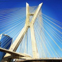 Photo taken at Ponte Octávio Frias de Oliveira (Ponte Estaiada) by Ivens  L. on 10/18/2012