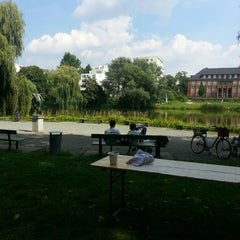 Photo taken at Lietzensee by Simone W. on 8/10/2013