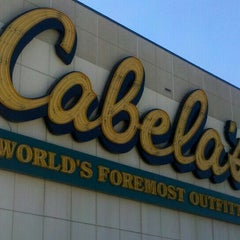 Photo taken at Cabela's by Cherie H. on 1/26/2013