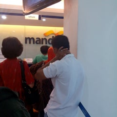 Photo taken at Bank Mandiri by Maria M. on 5/30/2014