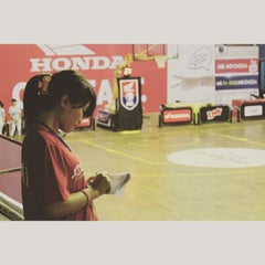 Photo taken at GOR Sang Bumi Ruwa Jurai (Saburai) by Velia J. on 9/17/2015