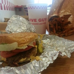 Photo taken at Five Guys by A J. on 9/30/2012