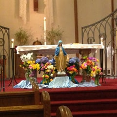 Photo taken at Holy Cross Church by Venessa H. on 5/5/2013