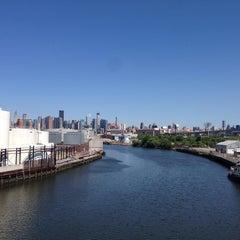 Photo taken at John Byrne-Greenpoint Avenue Bridge by Matthew on 6/7/2014