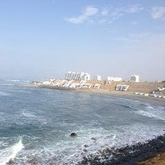 Photo taken at Playa Señoritas by Rocio Y. on 1/23/2013