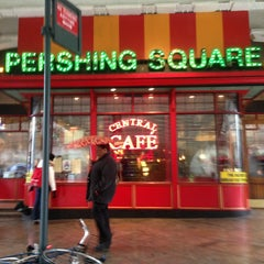 Photo taken at Pershing Square Café by Elaine M. on 2/23/2013