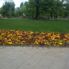 Photo taken at II. János Pál pápa tér by Norbert B. on 4/19/2014