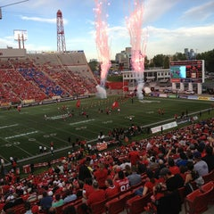 Photo taken at McMahon Stadium by Bill B. on 6/29/2013