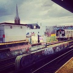 Photo taken at MTA Subway - J Train by Jennifer F. on 11/2/2013