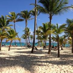 Photo taken at Riu Palace's Beach by Alejandro O. on 1/27/2013