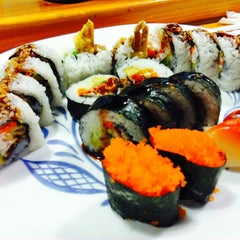 Photo taken at Pacific Cabin Sushi by Sharon H. on 7/20/2014