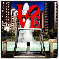 Photo taken at JFK Plaza / Love Park by Andrew D. on 9/15/2012