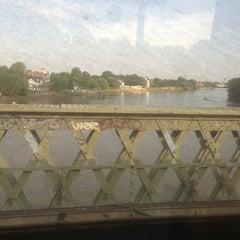 Photo taken at Kew Railway Bridge by Christine on 7/8/2013