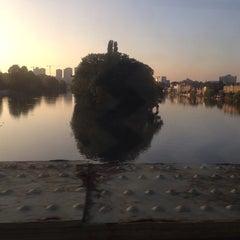 Photo taken at Kew Railway Bridge by Christine on 9/23/2013