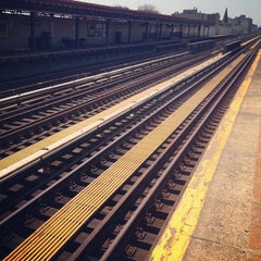 Photo taken at MTA Subway - 30th Ave (N/Q) by Gail A. on 4/24/2013